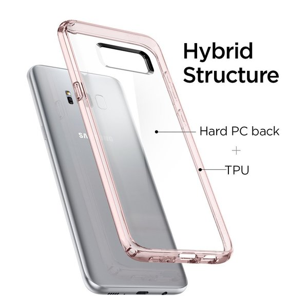 Samsung Galaxy S8 Case, Spigen® [Ultra Hybrid] Galaxy S8  Cover with Air Cushion Technology Pink